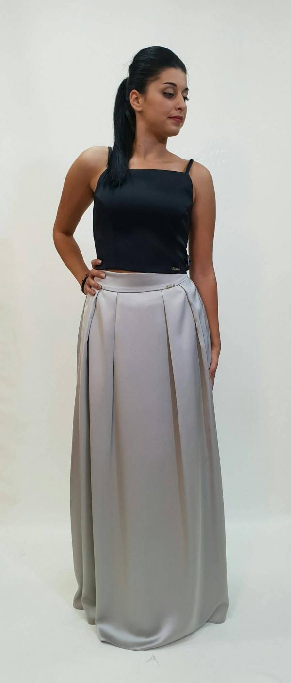 Ψηλοκαβαλη φούστα με πιέτες