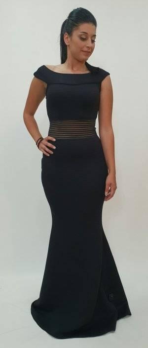 Φόρεμα μάξι εντυπωσιακή διαφάνεια στη μέση