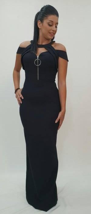 Φόρεμα γοργονέ με φερμουάρ στο στήθος