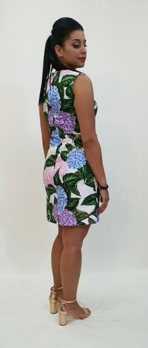 Φόρεμα floral ίσια γραμμή