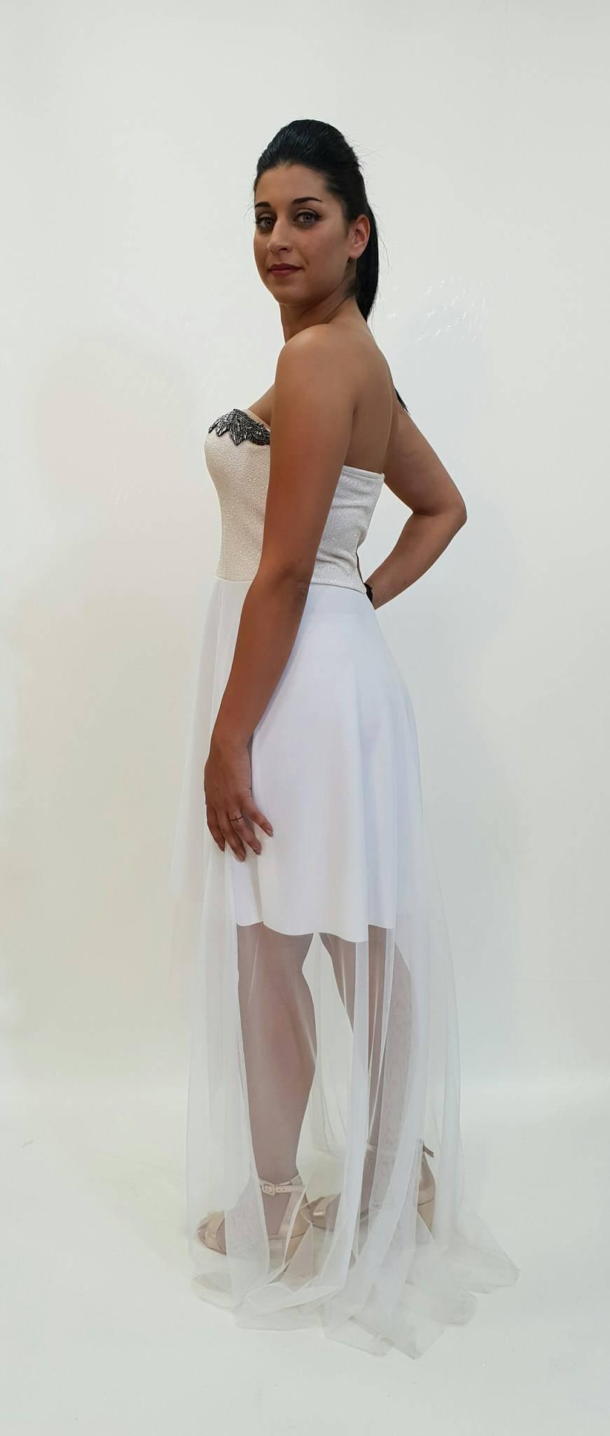 Φόρεμα ασύμμετρο με τούλινη φούστα - For ever Chania Clothing ... 868986402fb