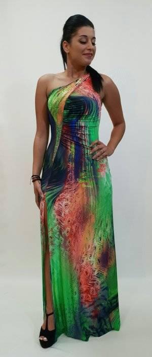 Φόρεμα μακρύ με μια τιράντα