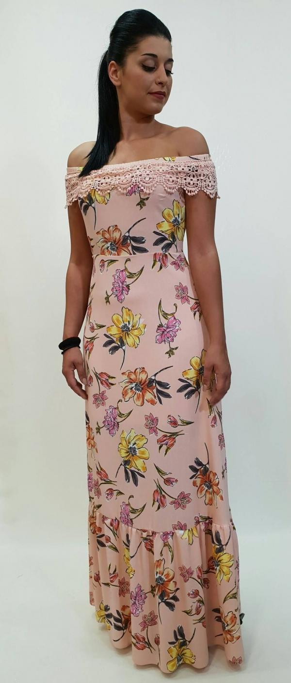 5479c5a0ccb5 Φόρεμα με χαμόγελο μανίκι floral - For ever Chania Clothing ...