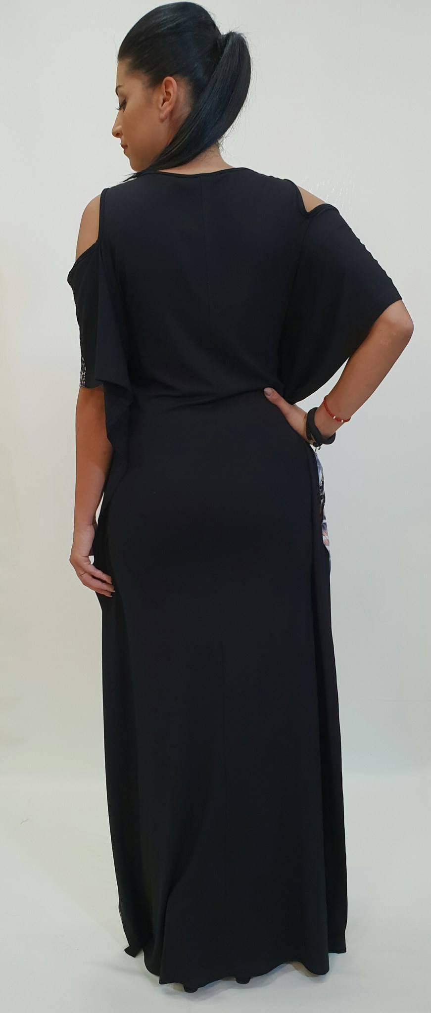 26561f333543 Φόρεμα καφτάνι με δαντέλα στο μπούστο - For ever Chania Clothing ...