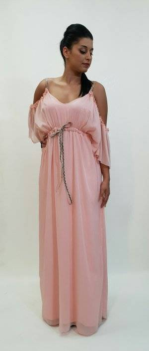 Φόρεμα αέρινο με ριχτό μανίκι