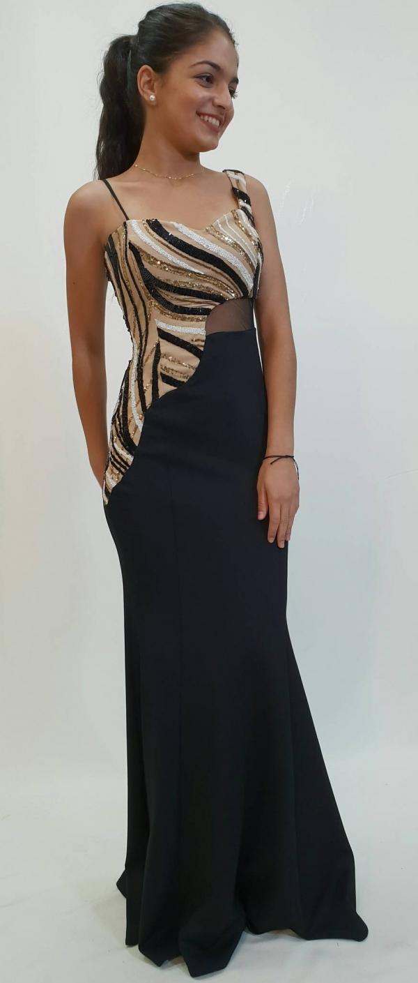 09845c63021a Εντυπωσιακό φόρεμα μια διαφάνεια και στρας - For ever Chania ...