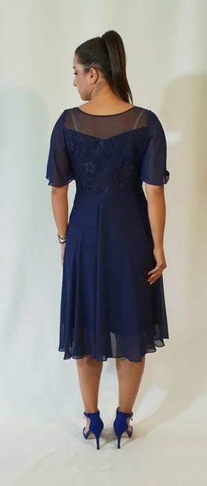 Φόρεμα κοντό με δαντελωτό μπούστο