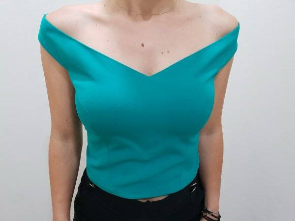675bfd7f8ad8 Μπλούζα crop top χαμόγελο - For ever Chania Clothing   Accessories