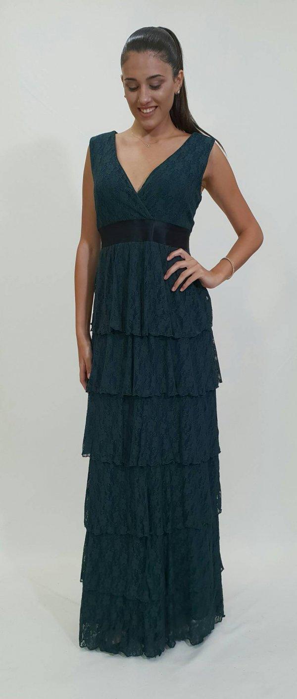 d6aefb7cf91 Φόρεμα μακρύ με βολάν όλο δαντέλα - For ever Chania Clothing ...