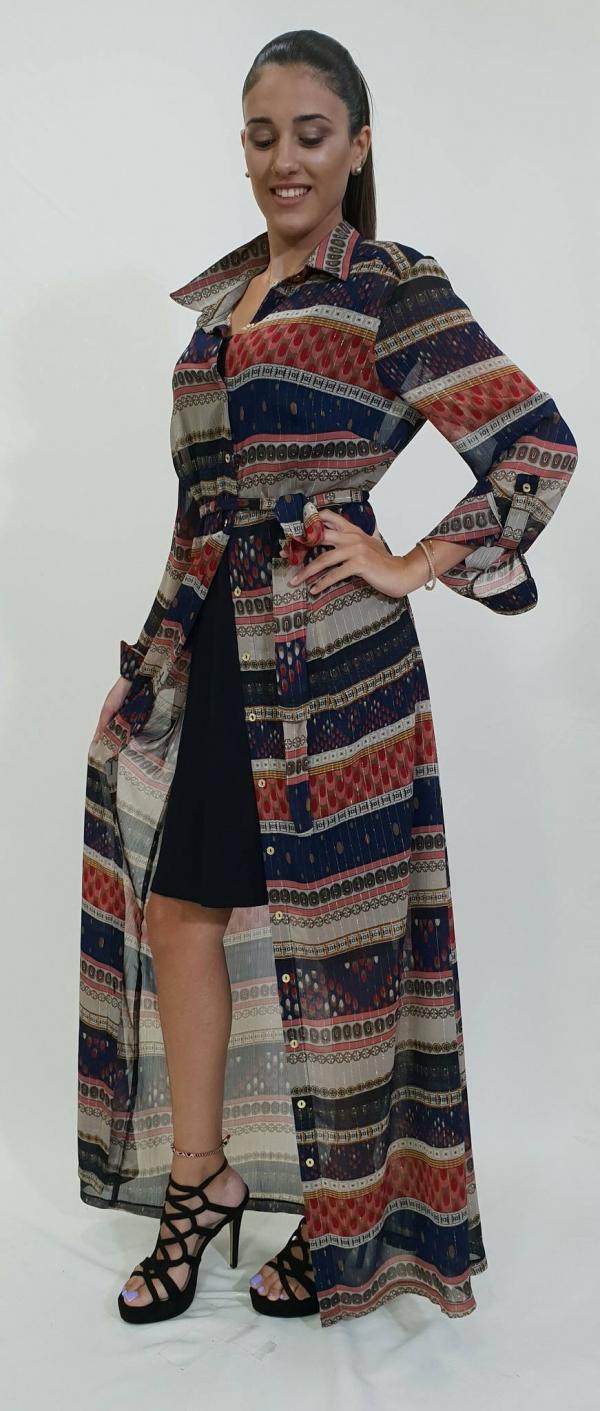 Φόρεμα διπλό με γιακά