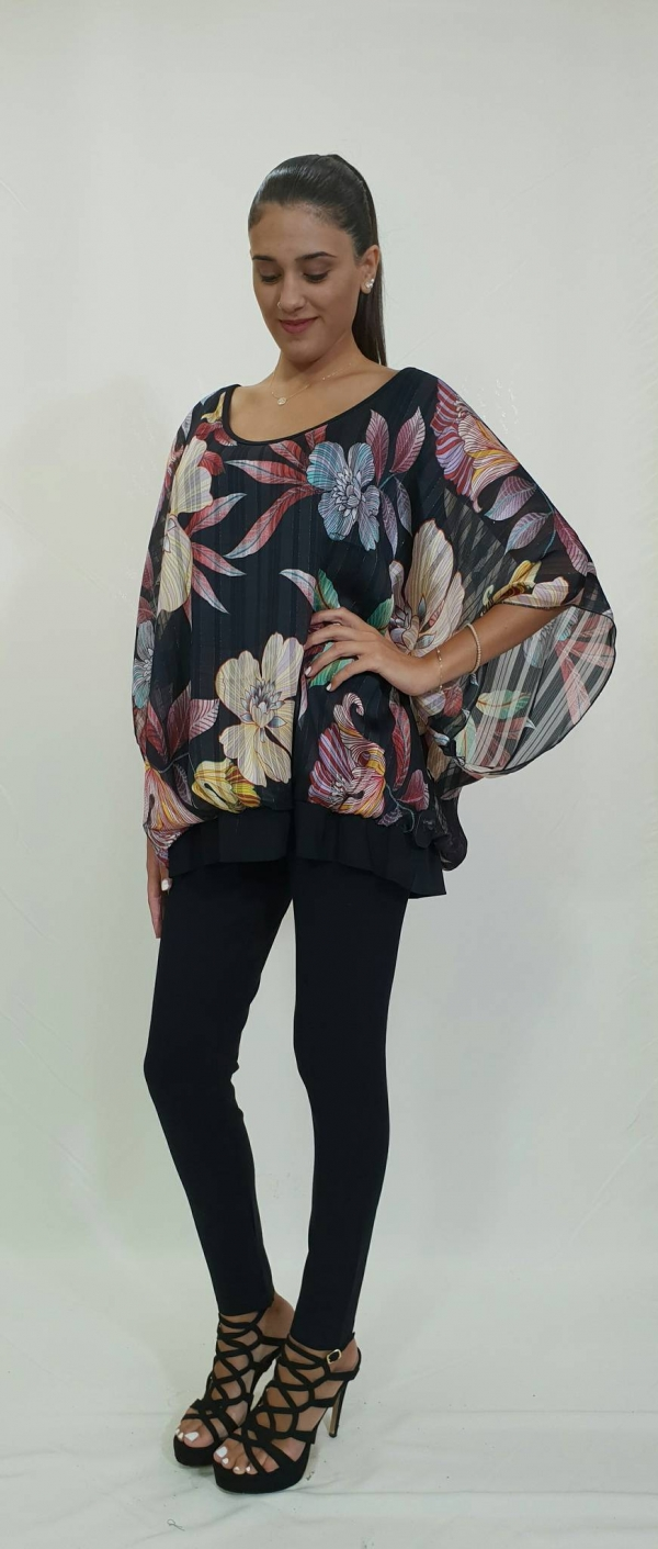dae5976dd86 Μπλούζα με εντυπωσιακό floral - For ever Chania Clothing & Accessories
