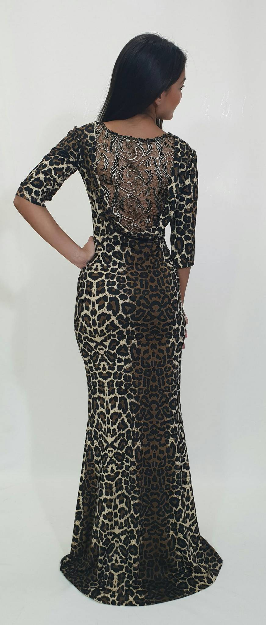1add00a93138 Φόρεμα μακρύ με σχέδιο στη πλάτη - For ever Chania Clothing ...