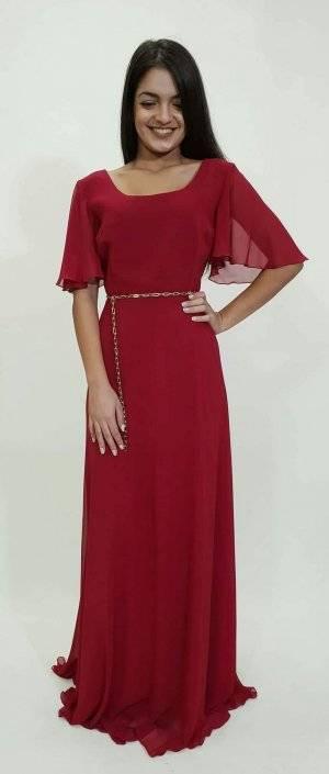 Φόρεμα μακρύ με μανίκι