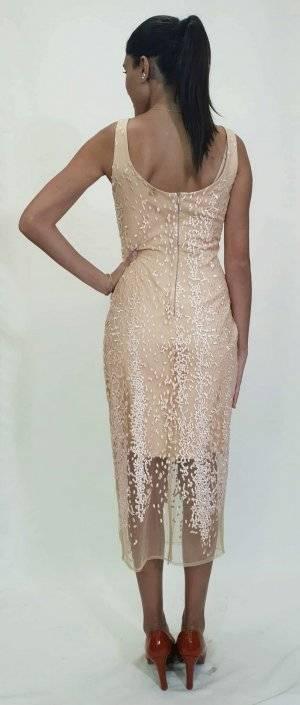 Φόρεμα ασύμμετρο δαντέλα