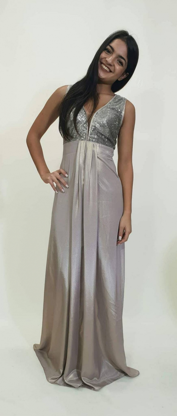 Φόρεμα lurex σατέν με μπούστο από στρας - For ever Chania Clothing ... 606782e2f9f