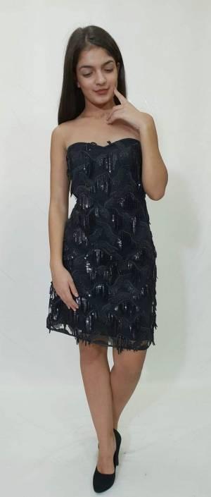 Φόρεμα κοντό με κρόσια