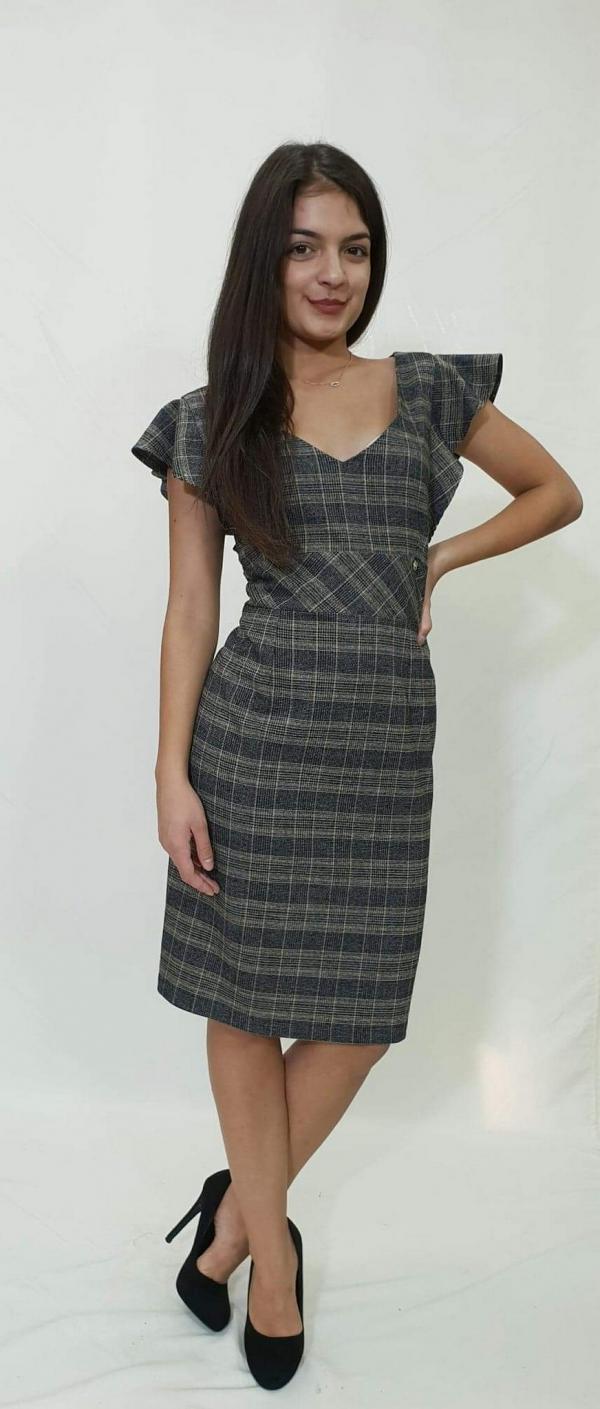Φόρεμα κοντό καρό