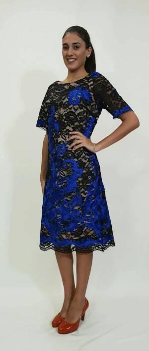 Φόρεμα κοντό δαντέλα