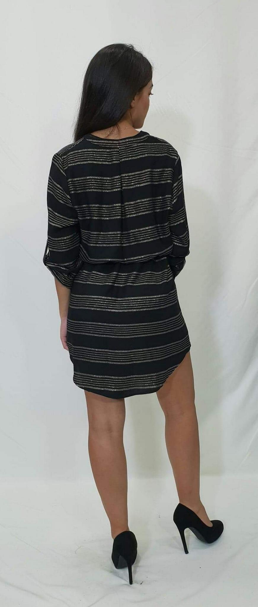 1a52662cc4 Πουκαμίσα Φόρεμα με χρυσή ρίγα - For ever Chania Clothing   Accessories