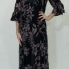 Φόρεμα αέρινο με μακρύ μανίκι
