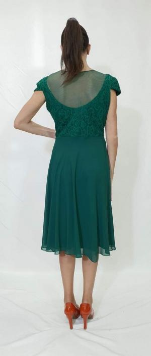 Φόρεμα με δαντελωτό μπούστο