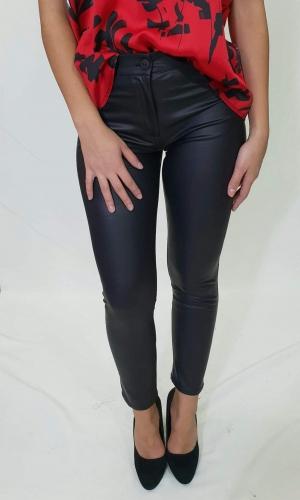Παντελόνι δερματίνη με τσέπες