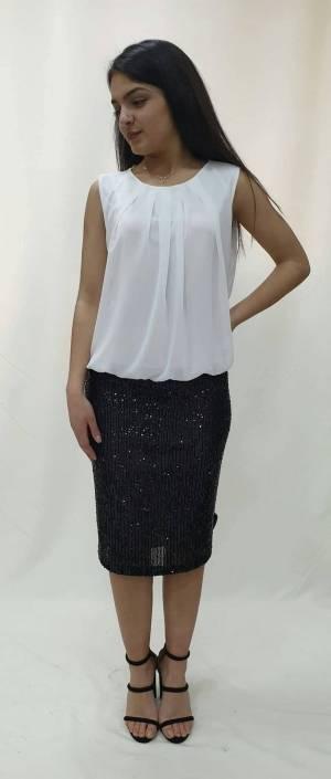 Φόρεμα κοντό με φούστα παγέτα