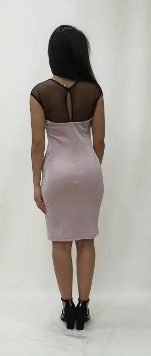 Φόρεμα κοντό με διαφάνειες