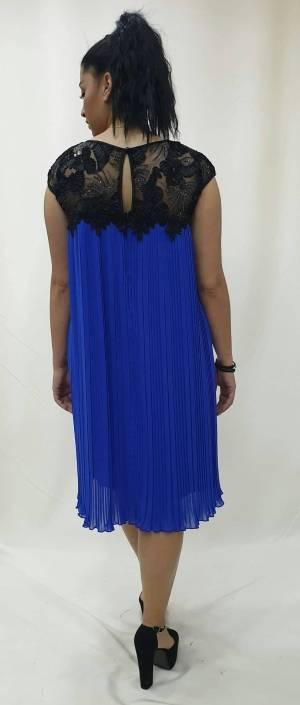 Φόρεμα κοντό με πλισέ φούστα