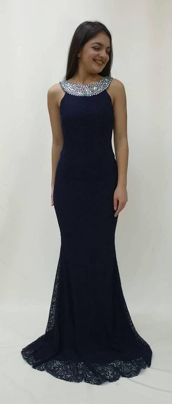 5f8184f6d93 Φόρεμα όλο δαντέλα στρας