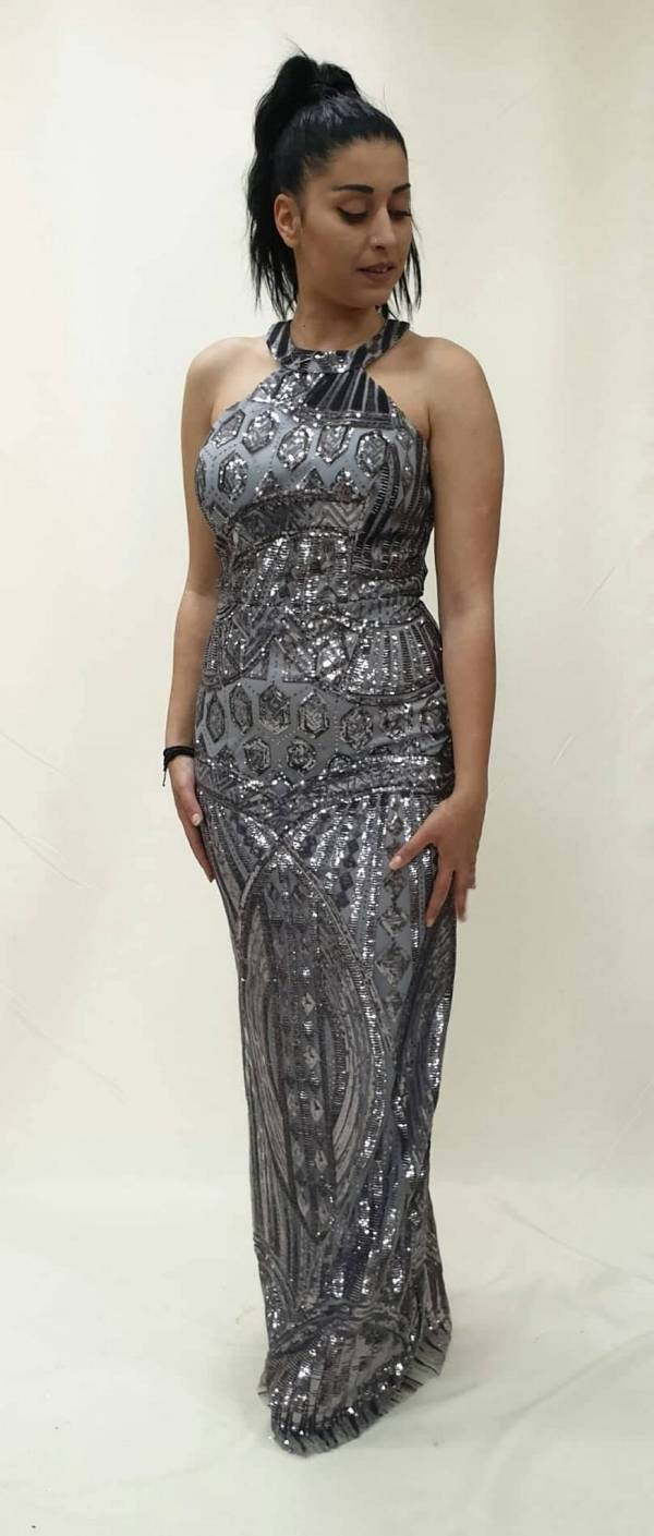 6206c03e4b64 Φόρεμα μακρύ στρας - For ever Chania Clothing   Accessories