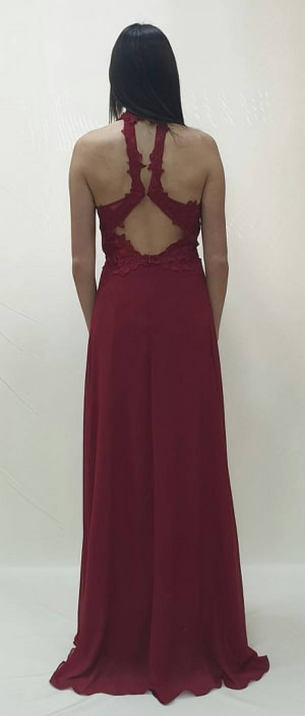 Φόρεμα με δαντελωτό μπούστο και πλάτη