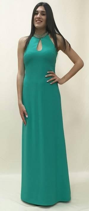 Φόρεμα μακρύ με σχέδιο στη πλάτη
