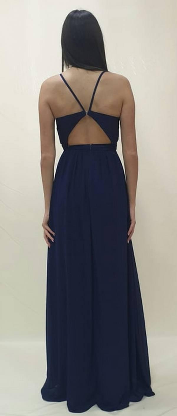 Φόρεμα μακρύ με άνοιγμα στη πλάτη