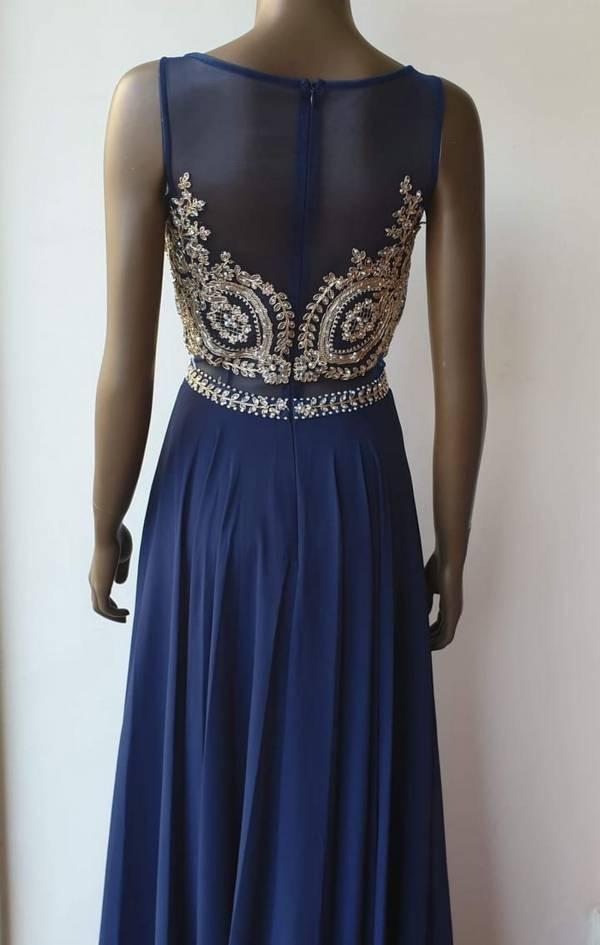 Φόρεμα μακρύ με κεντητό μπούστο