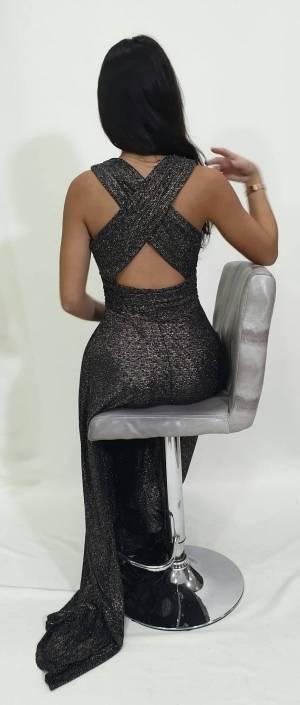 Φόρεμα μακρύ με Χ πλάτη