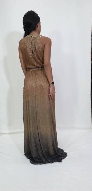 Φόρεμα lurex με παρτους ώμους
