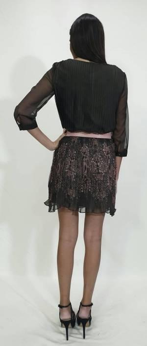 Φόρεμα κοντό πλισέ