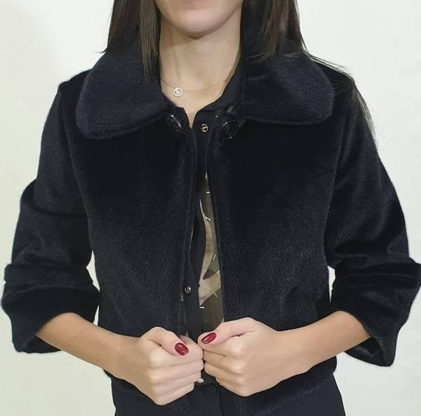 Γουνάκι-Μπολερό  με κουμπί