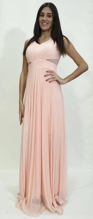Φόρεμα μακρύ με διαφάνειες