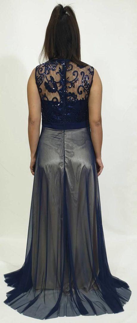 Φόρεμα μακρύ μπούστο δαντέλα και στρας