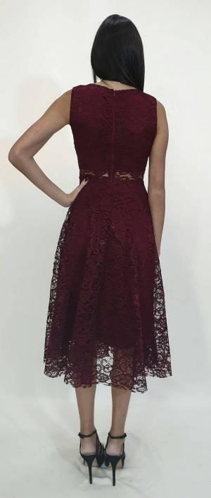 Φόρεμα Midi δαντέλα