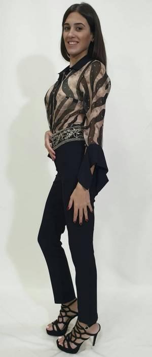 Παντελόνι με χρυσή φάσα