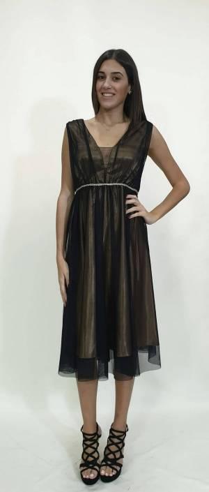Φόρεμα κοντό όλο τούλι