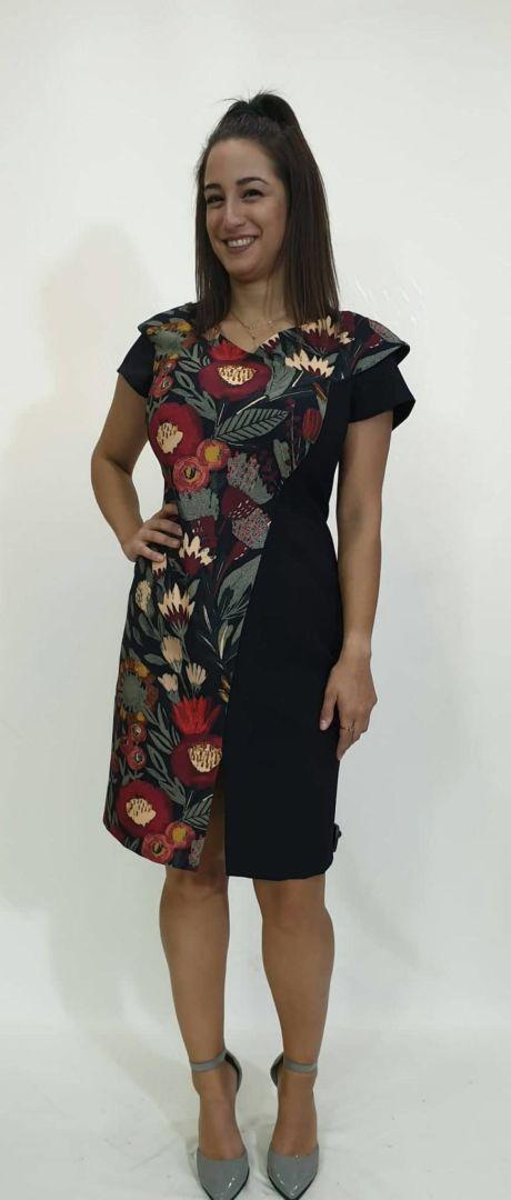 Φόρεμα κοντό με σκίσιμο μπροστά