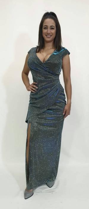 Φόρεμα lurex με σούρες
