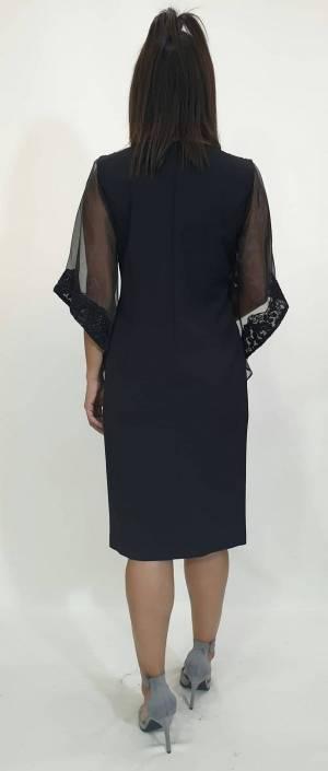 Φόρεμα κοντό δαντέλα στρας